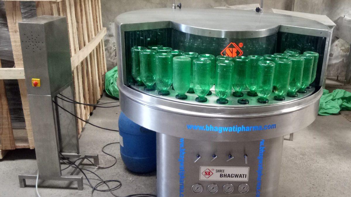 Bottle washing machines