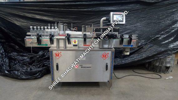 Bottle Sticker Labelling Machine installation in Noida for Manufacturer of Ayurvedic Medicine Based Company