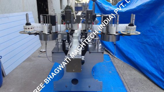 Double Side Labelling Machine Installation in Mumbai for Packaging Machinery based Company