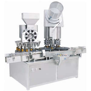 Monoblock-Rotary Dry Syrup Powder Filling & Sealing Machine - Rotary Powder Filler & Sealer