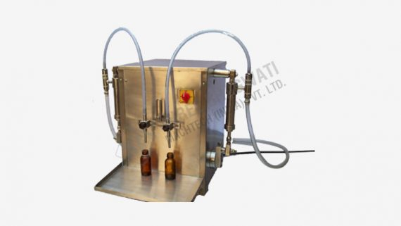 Semi Automatic Two Head Liquid Filling Machine Installation in Sindhudurg, Maharashtra for Food Products Based Company