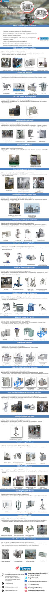 Shree Bhagwati - A Leading Manufacturer of Process and Packaging Machinery