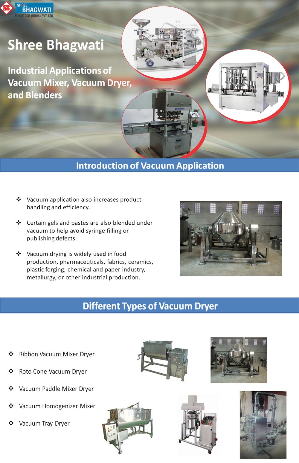 Industrial Applications of Vacuum Mixer, Vacuum Dryer, and Blenders